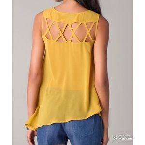 Revolve   Finders Keepers   Open Back Sheer Top